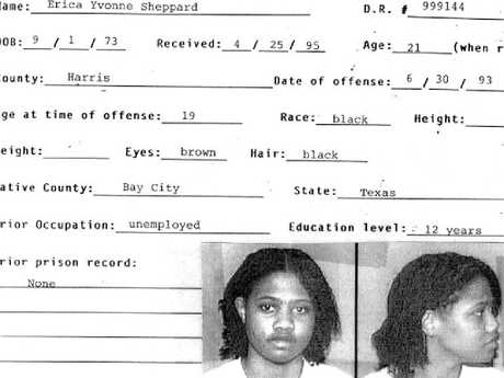 Erica Sheppard's rap sheet after she was arrested for the murder of 43-year-old Marilyn Sage Meagher.