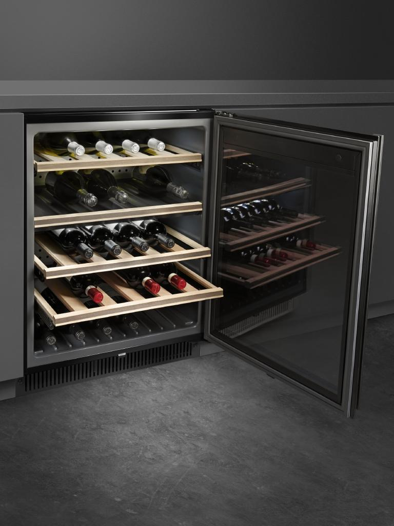 The under-bench wine cellar. Picture: supplied