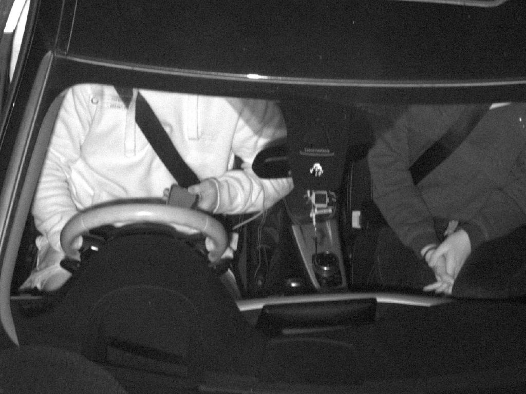 One hand on the wheel with a mobile phone in the other. Picture: Supplied