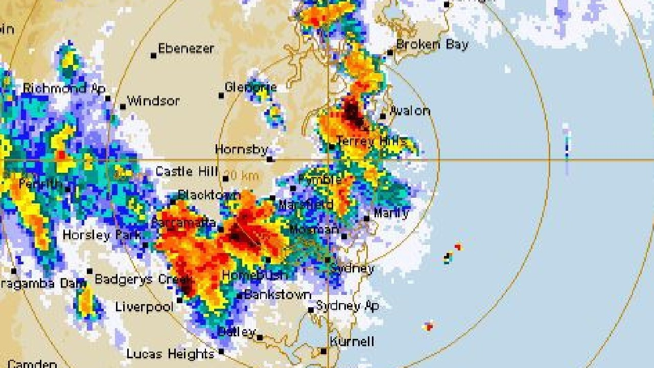 Storm activity over Sydney today.