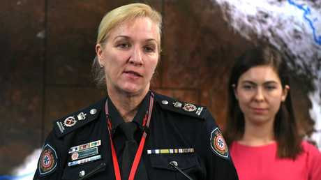 QFES Commissioner Katarina Carroll at the State Disaster Management Centre. Picture: AAP/John Gass