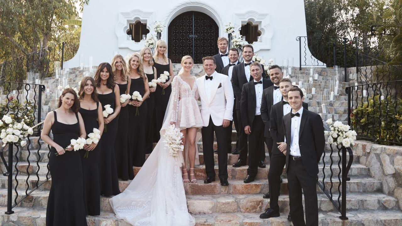 Karl Stefanovic and Jasmine Yarbrough wedding in Cabo.