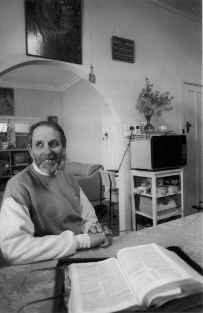 September, 1993: Ralph Vollmer sits in his kitchen where the exorcism occured. Picture: Peter Ward