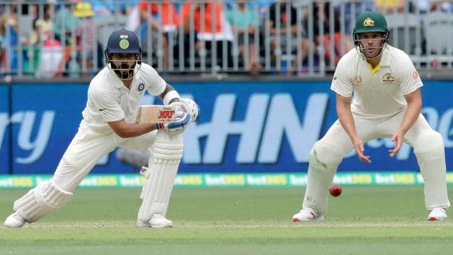 Kohli was exceptional during a tough stage for the tourists. (AAP Image/Richard Wainwright)
