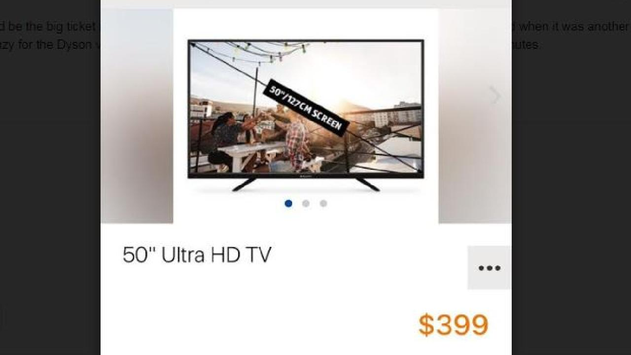 "This 50"" TV at $399 was the most popular item at some stores this morning."