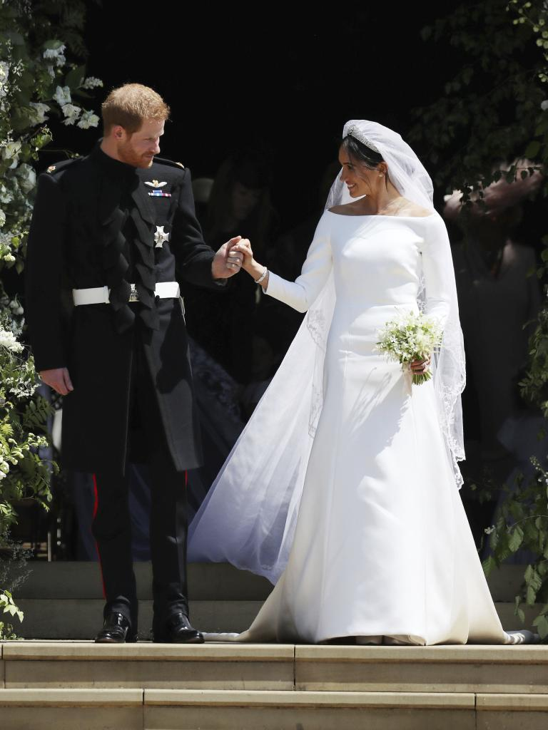One woman's simple and elegant is another's ill-fitting and boring. Picture: Jane Barlow/AP/pool