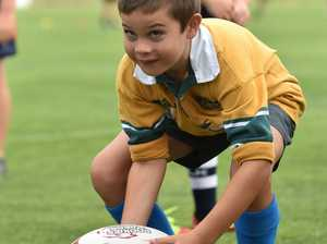 Queensland Reds training session for the juniors at