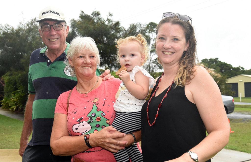 Image for sale: Toogoom Christmas Fair 2018 - (L) Greg,Trish, Belle Stewart, and Willow Stewart.