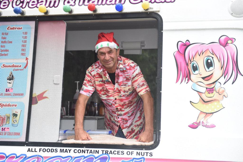 Image for sale: Toogoom Christmas Fair 2018 - Max Lancaster in his Ice Dream Van.