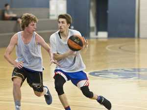 Jacob Holt (left) and Jackson Berghofer in action as