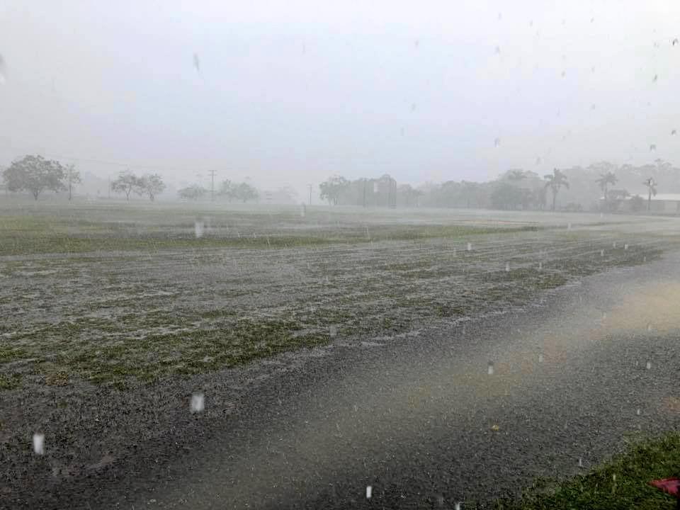 A rain sodden field at GAC track off Derby Street.