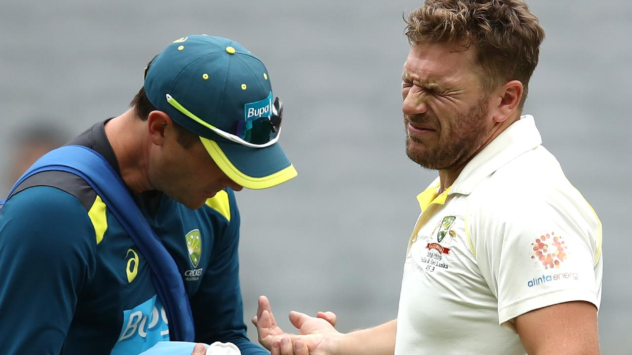 Aaron Finch could miss the rest of the Indian series. (Photo by Ryan Pierse/Getty Images)