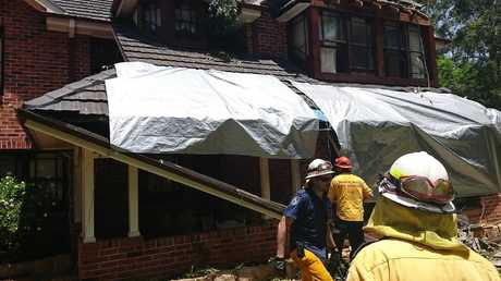 A home that was damaged by the severe thunderstorm that hit Sydney on Saturday. Picture: Supplied