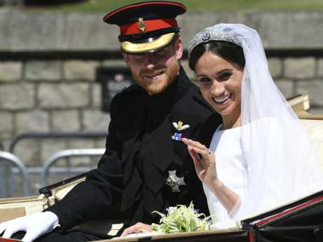 There has been news of a royal rift between Harry and his family after he married Meghan. Picture: AP