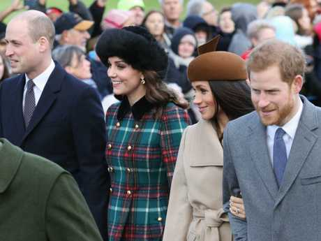 Meghan reportedly has a problem with Harry going shooting with his brother. Picture: Getty