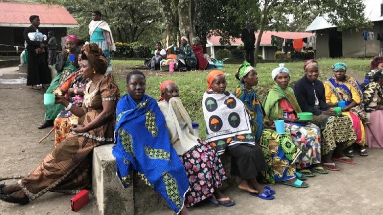 Some of the patients waiting for surgery by Dr Hannah Krause at Kigando hospital, Uganda.