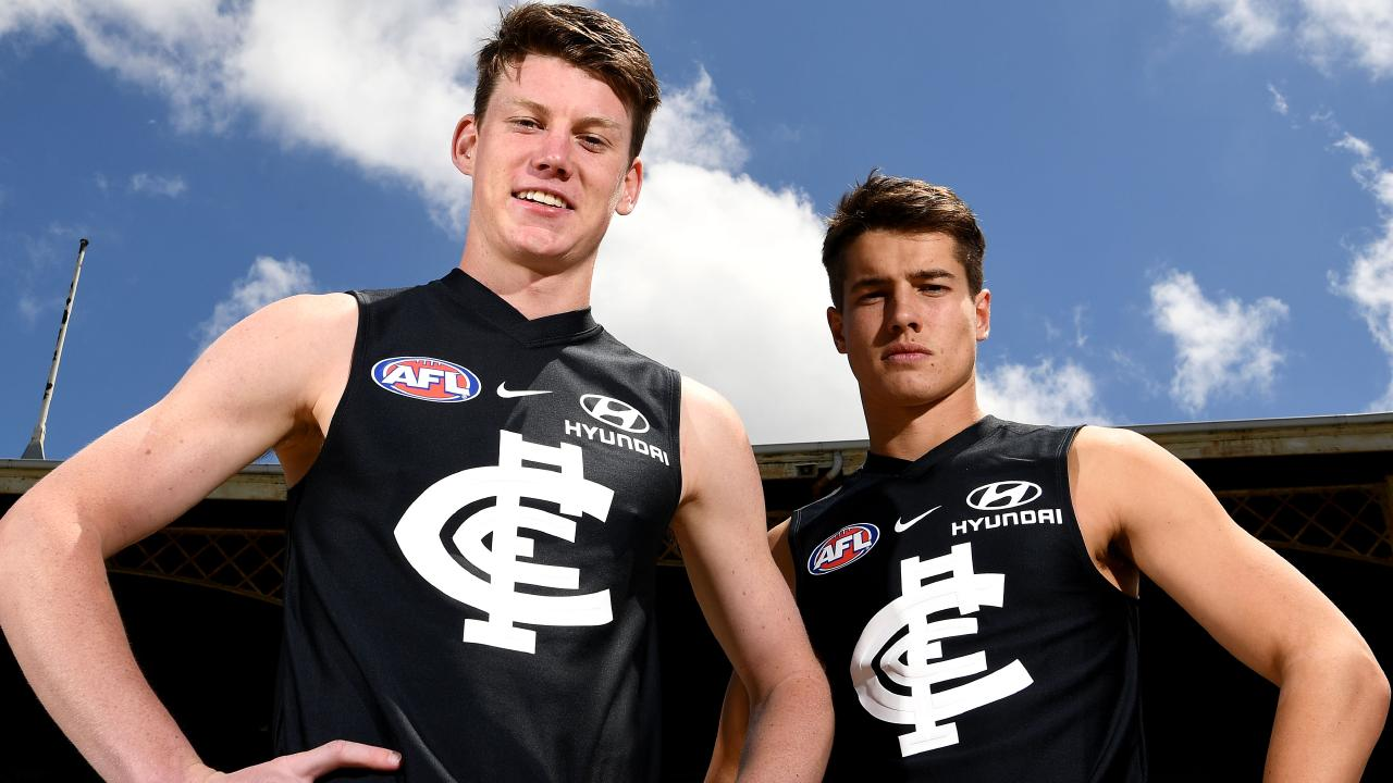 Can Carlton draft picks Sam Walsh and Liam Stocker make an immediate impact? Picture: Getty Images