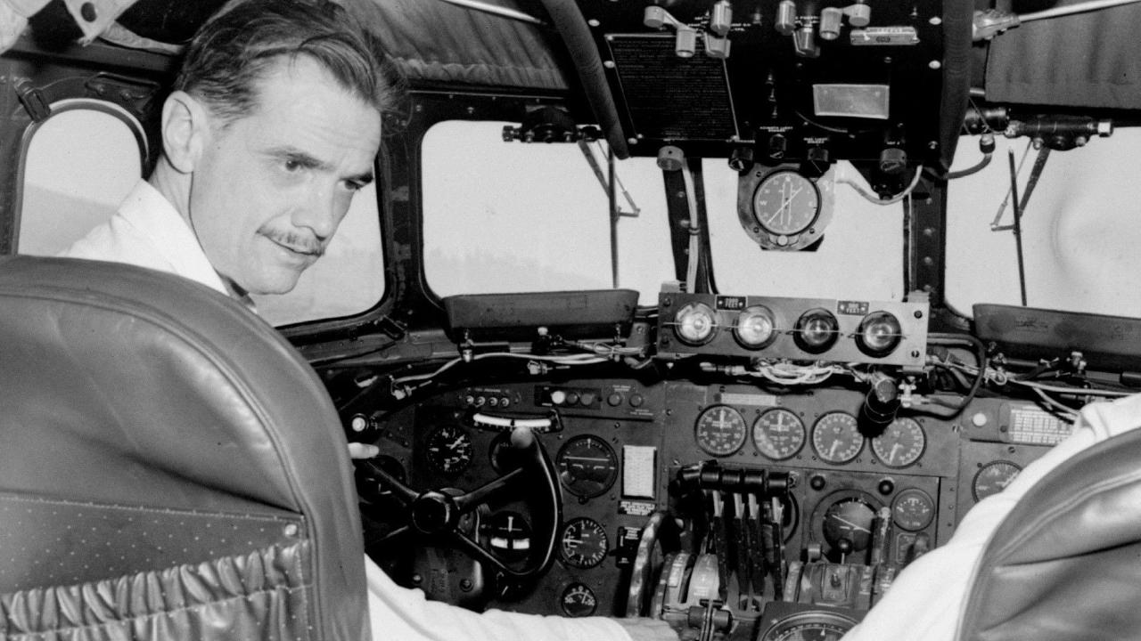 The aviator: Hughes at the controls of an aeroplane. AP Photo/File