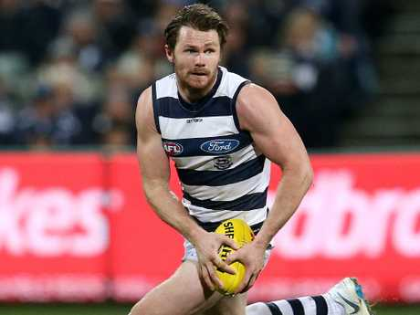 Patrick Dangerfield knows he's running out of time, but can Santa give the Cats new life? Picture: Michael Klein