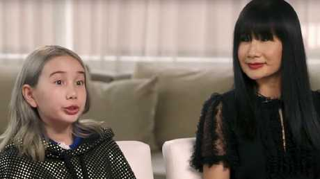 Lil Tay explains it all with her mother on Good Morning America.