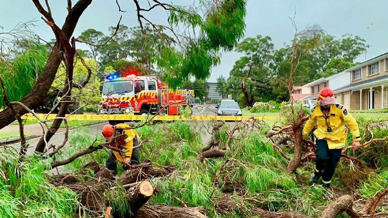 More than 55,000 homes across Sydney and the Central Coast are without power. Picture: Facebook NSW Rural Fire Service
