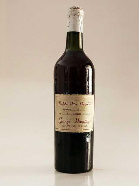 An original 1951 vintage bottle of Grange.