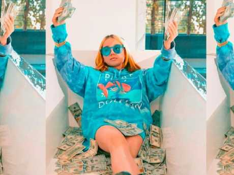 Rapper Lil Tay from her now deleted Instagram account