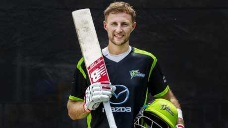 Joe Root will pad up for the Thunder in the BBL. Picture: Jenny Evans