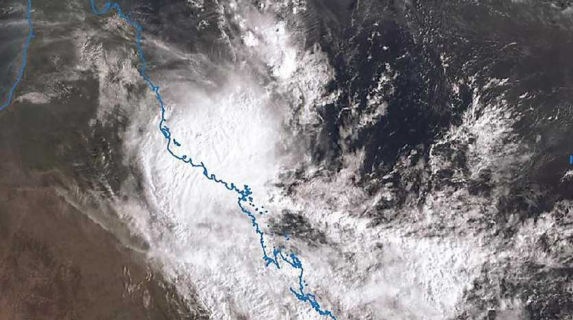 A man has died in floodwaters north of Townsville as ex-tropical Cyclone Owen heads down the Queensland coast. Picture: BOM
