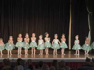 Tiny tots perform on stage