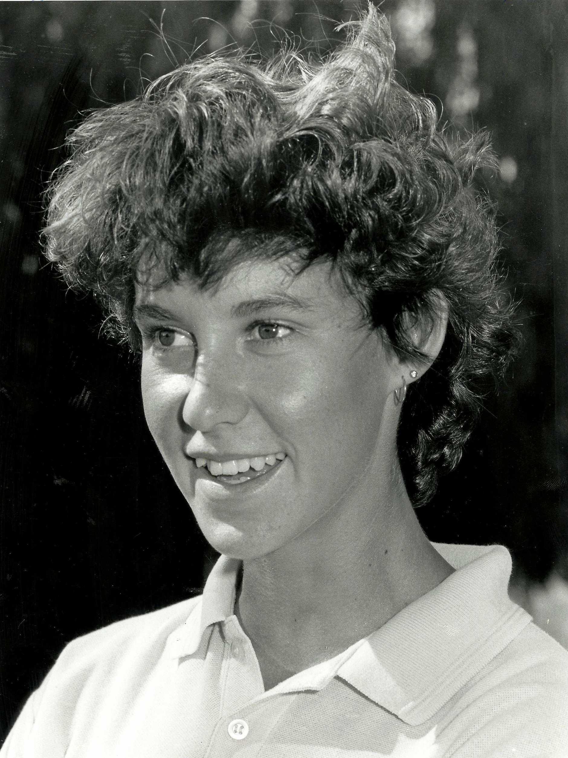 Former heptathlon champion Theresa Martin.