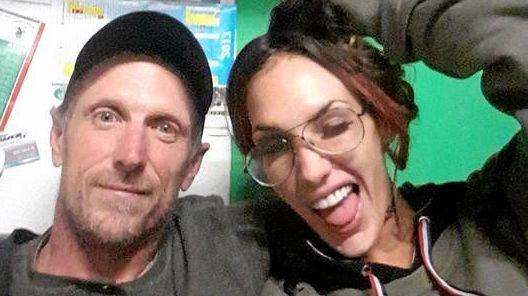 Brenden John Casey with his model-girlfriend Karlee Ironside. Mr Casey is contesting charges of contravening an order about information necessary to access information stored electronically and possessing property suspected of having been used in the commission of a drug offence.
