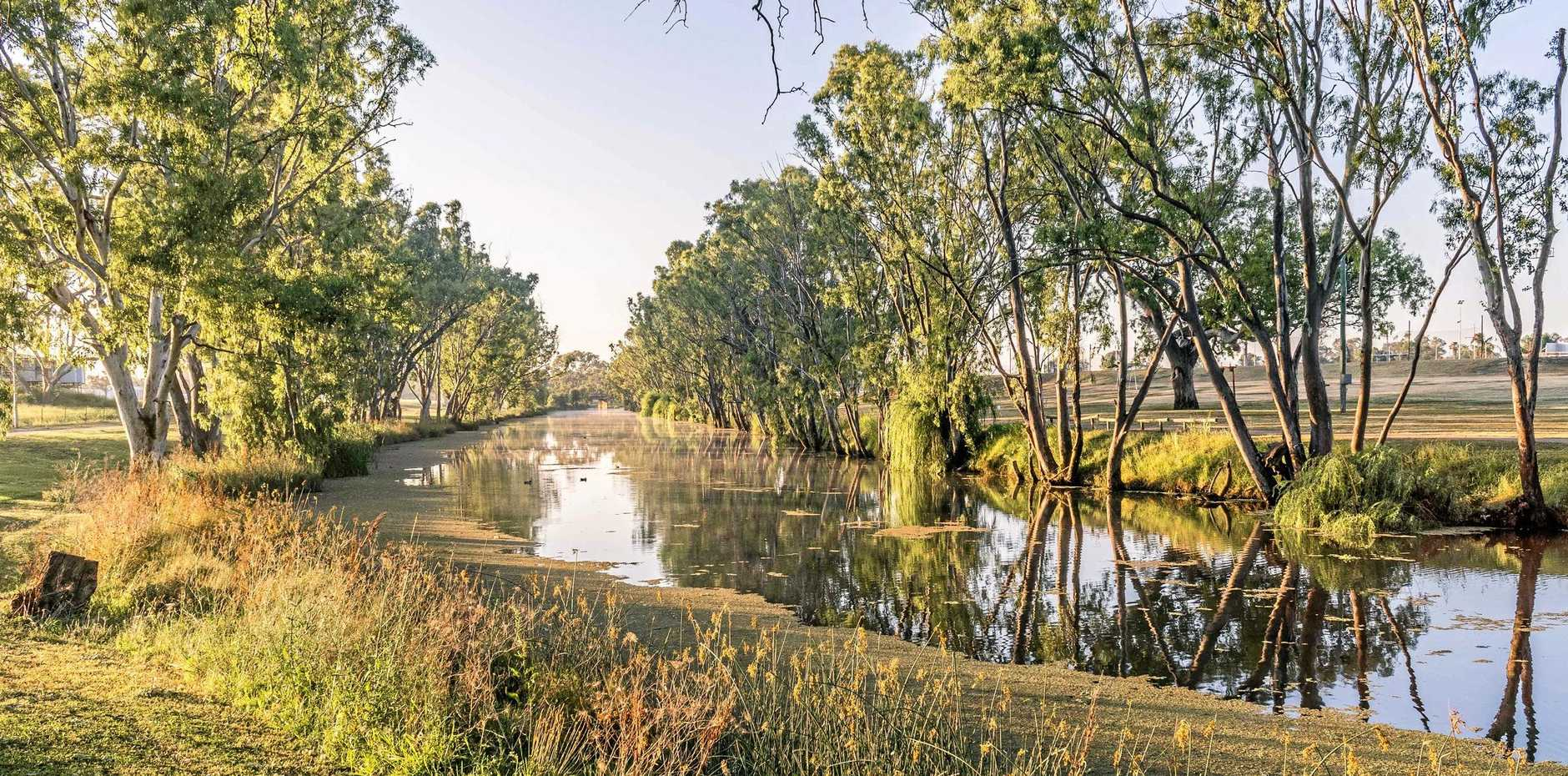 BEFORE THE STORM: Water levels have soared to 70cm above normal levels.