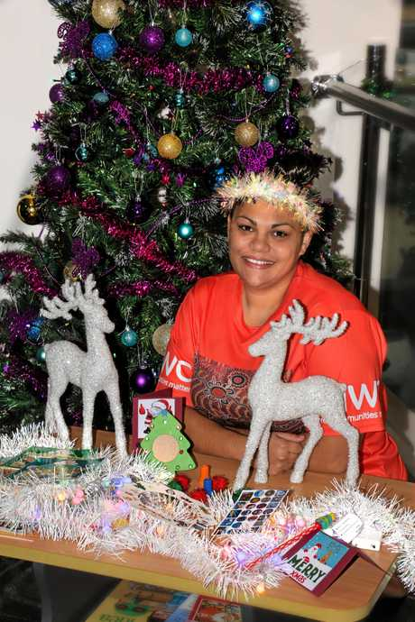 PLAYING TO LEARN: IWC Community & Family Services team member Neswaya Little is heading free Christmas activity sessions today, tomorrow and on Thursday.