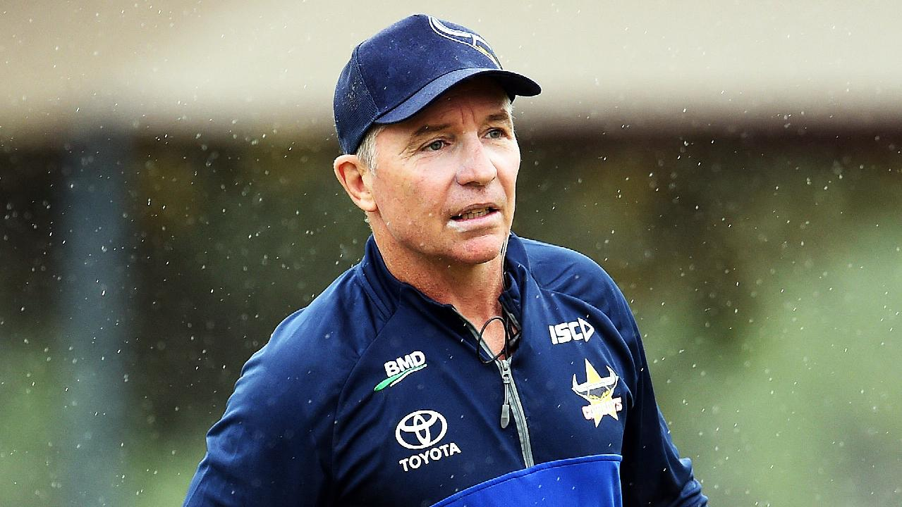 North Queensland Cowboys training from the Townsville Sports Reserve. Coach Paul Green. Picture: Zak Simmonds