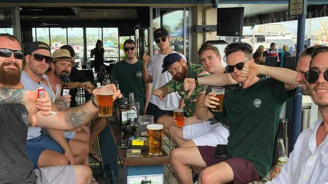Staff from All About Cabinets, Coomera were disappointed to find their planned Christmas party at McLaren's Landing was cancelled. Photo: Michael Saunders.