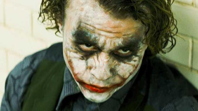 Heath Ledger as The Joker in a scene from the 2008 film The Dark Knight.