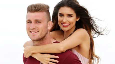 The Miss World Australia pageant helped bring beauty queen Taylah Cannon and Gold Coast Titans player Jai Arrow together. Photo: Nigel Hallett