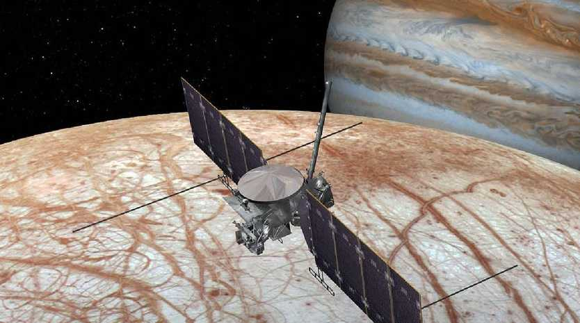 An artist's impression of NASA's planned Europa Clipper mission to map the moon and analyse its mineral content. Picture: NASA/JPL-Caltech