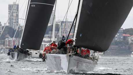 Wild Oats XI shapes as a legitimate threat for line honours. (AAP Image/Dean Lewins)