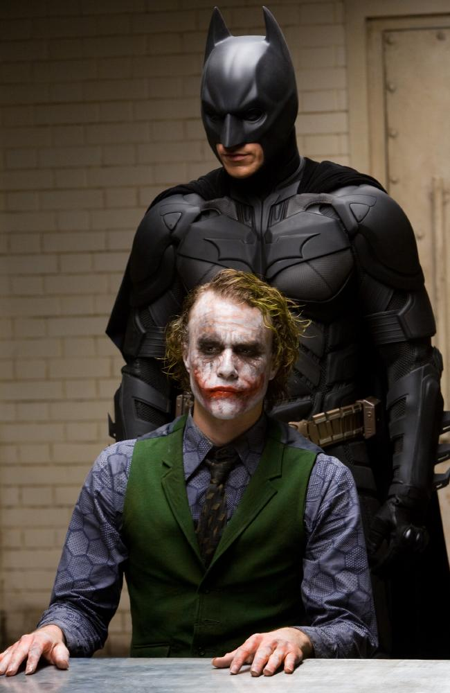 Ledger (alongside Christian Bale as Batman) was terrifying as The Joker.