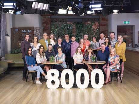 The cast of Neighbours will celebrate a milestone 8000th episode to air December 21.