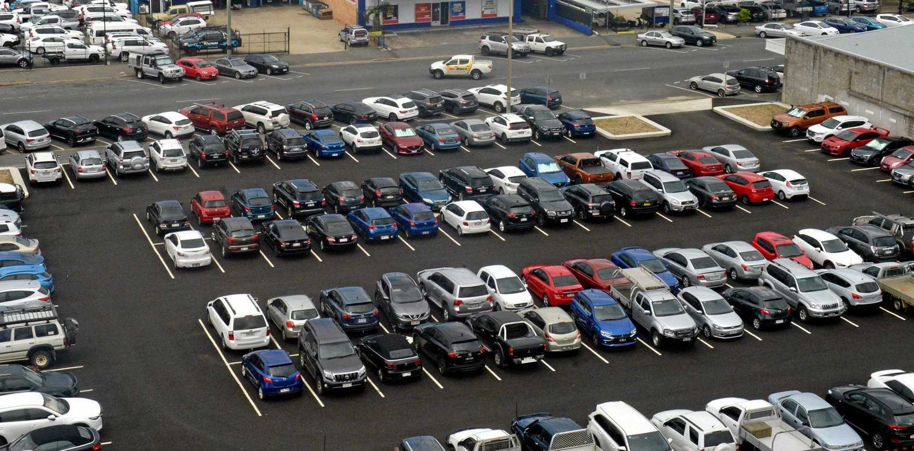 EARLY BIRDS: If you're later than 8am, you can forget about securing a free parking spot in the new Alma St carpark.