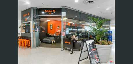 Caffine Ali coffee shop in the mall is waiting for a buyer.