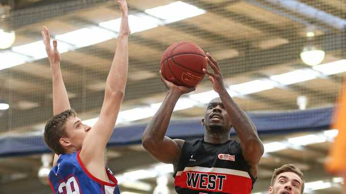NEW SIGNING: Demetrius Perkins in action for the West Adelaide Bearcats in the South Australia Premier League. The guard will suit up for the Toowoomba Mountaineers in 2019.