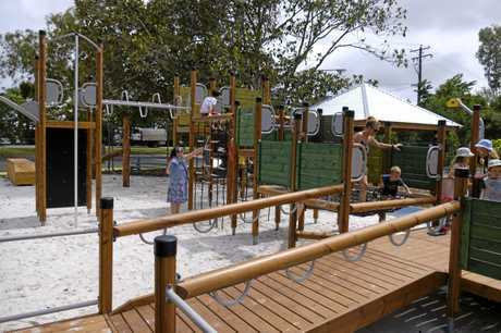OPEN: The new Botanic Gardens play ground in North Bundaberg was officially opened on Tuesday.
