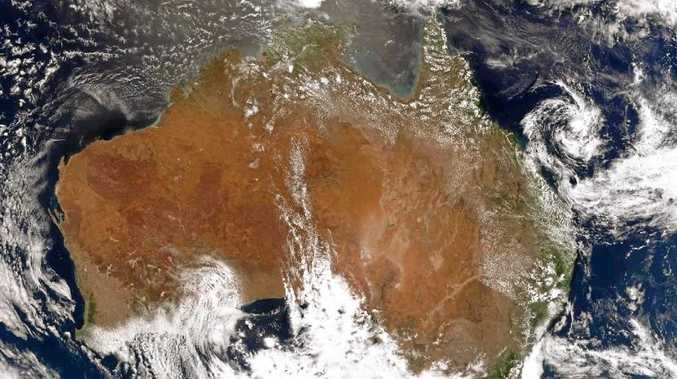 MOVING NORTH: An image from the Himawari-8 satellite yesterday afternoon.