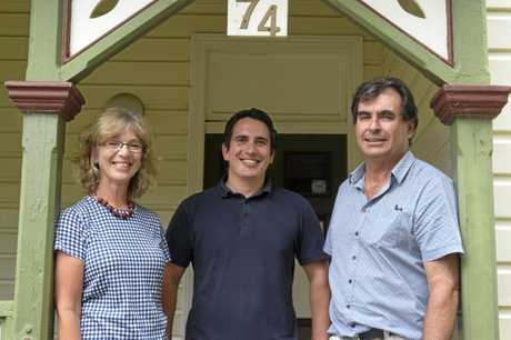 HANDING OVER: Graftonian osteopath Hugh Giles (centre) will take over the Big River Health and Sport Clinic in South Grafton from Jenny Drewitt-Smith and Ken Dewar after their retirement after more than 30 years in the Clarence Valley.