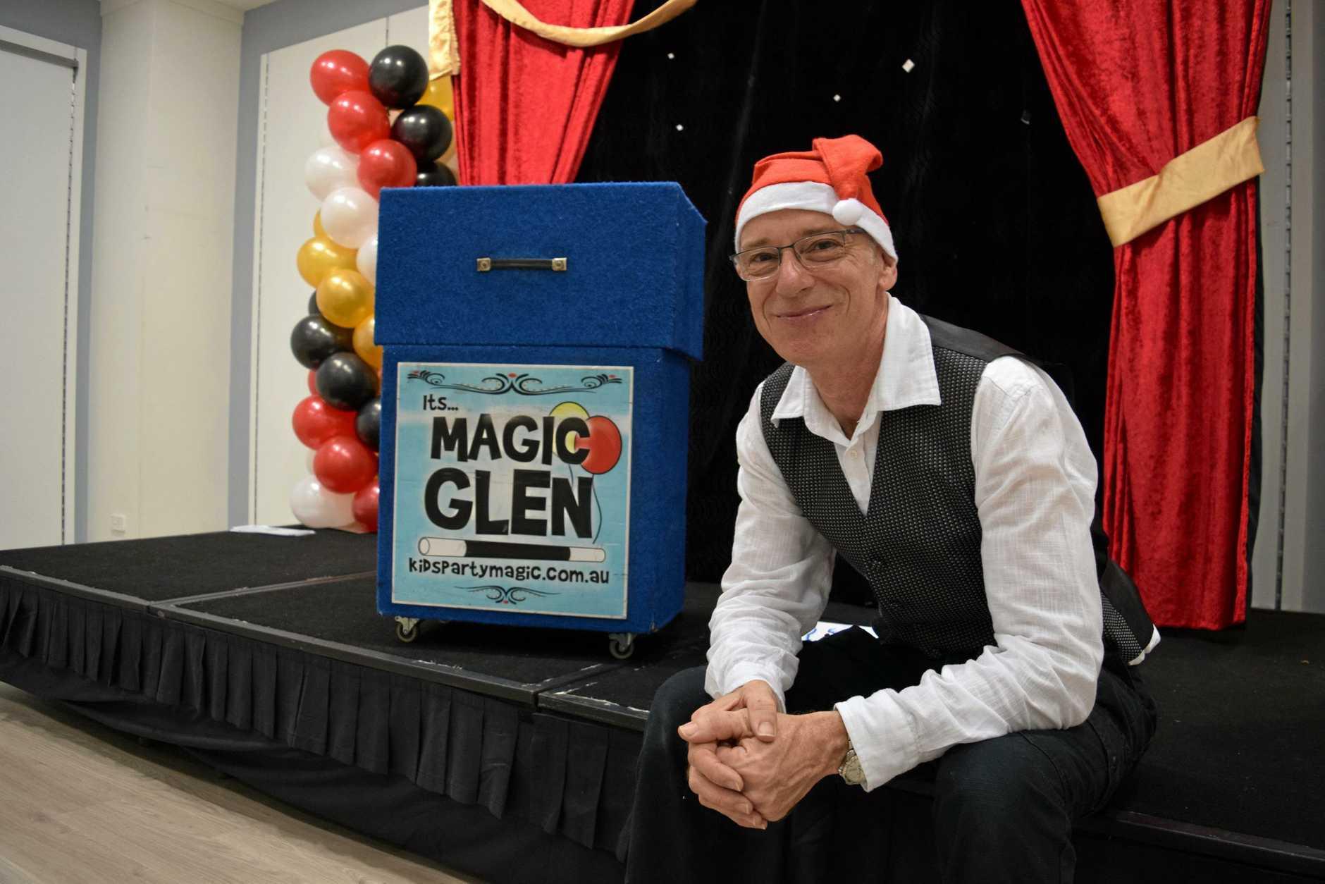 CHRISTMAS MAGIC: Glen Rhodes will perform three more shows at Rose City Shoppingworld.