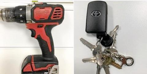 A drill and keys have been handed in to the Kingaroy Police Station
